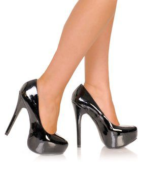 Black Patent Platform Ladies Pump