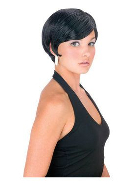 Black Pixie Girl Wig Adult