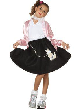 Black Poodle Skirt Child Costume
