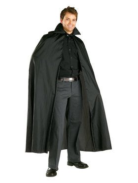 Adult Black Satin Cape
