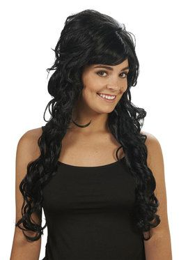 Black Starlet Adult Wig for Halloween