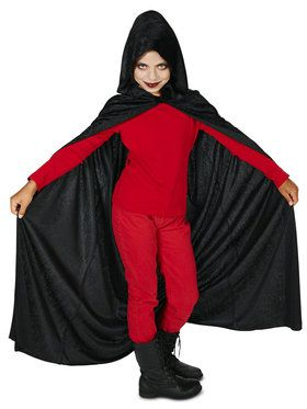 Black Velvet Child Cape One Size