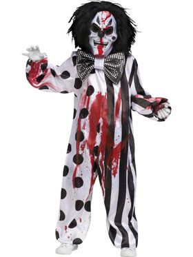 Bleeding Killer Clown Boy's Costume