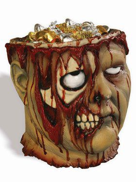 Bleeding Zombie Halloween Candy Bowl