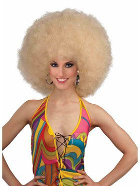 Deluxe Blonde Mega Afro Wig