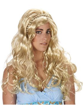 Blonde Dragon Queen Adult Wig