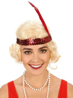 Blonde Flapper with Curls Adult Wig for Halloween