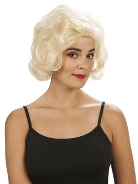 Blonde Marilyn Adult Wig for Halloween
