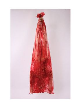 Blood Covered Body In Bag Prop