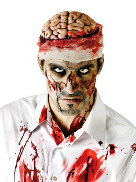 Bloody Brain Headpiece with Attached Gauze