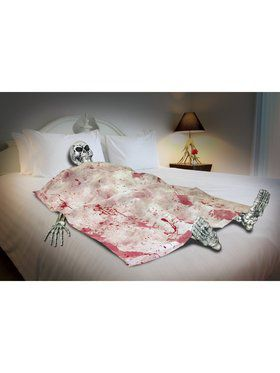 Bloody Death Bed Skeleton Decoration