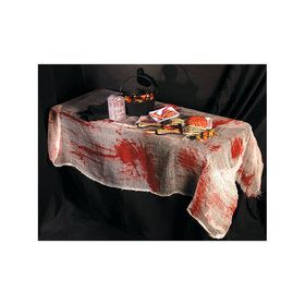 Bloody Gauze Table Cover for Halloween