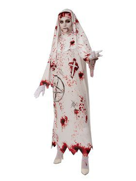 Bloody Nun Costume for Adults