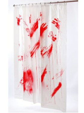 Bloody Psycho Shower Curtain Decoration