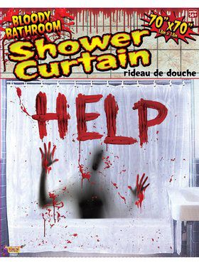 Bloody Shower Curtain Decoration