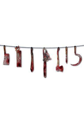 6ft Bloody Weapons Hanging Garland