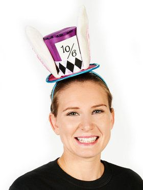 Blue and Purple Mad Hatter Rabbit Adult Mini Hat