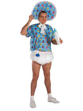 Blue Baby Boomer Adult Costume