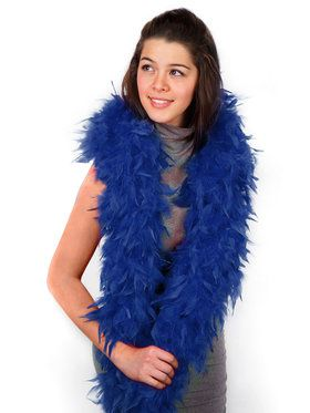 Womens Blue Feather Boa