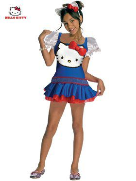 Blue Hello Kitty Child Costume