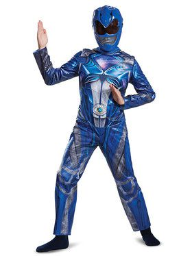 Blue Power Ranger Classic Costume For Children