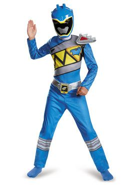 Blue Ranger Dino Charge Classic Boy's Costume