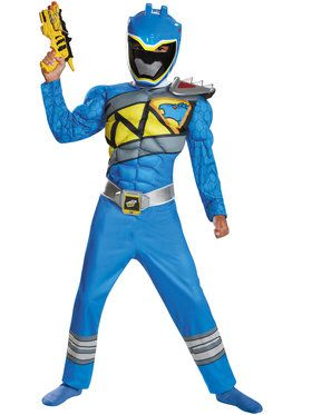 Blue Ranger Dino Charge Classic Muscle Boy's Costume