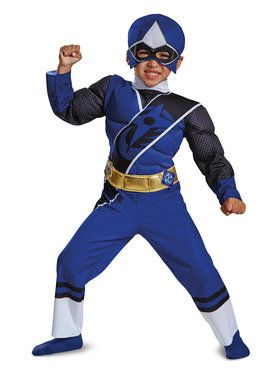 Blue Ranger Ninja Steel Child Muscle Costume