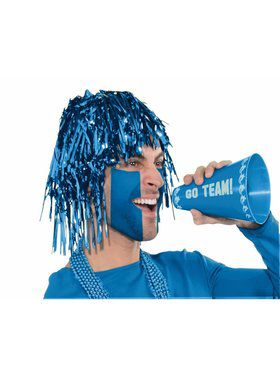 Shiny Blue Tinsle Wig