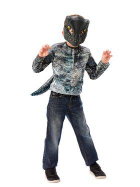 Dress-Up Set Blue Velociraptor Costume