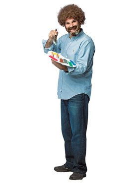 Bob Ross Kit Men's Costume