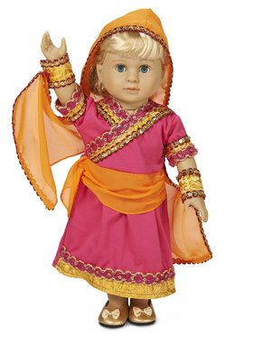 "Bollywood 18"" Doll Costume for Halloween"