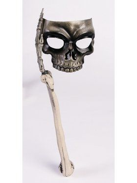 Bone and Skull Adult Stick Mask