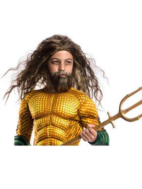 Boys Beard And Wig Aquaman Set