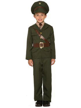 Army Officer Boy's Costume