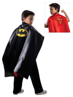 Boys Batman/Superman Reversible Cape