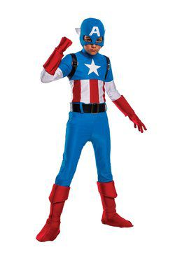 Kid's Classic Captain America Costume
