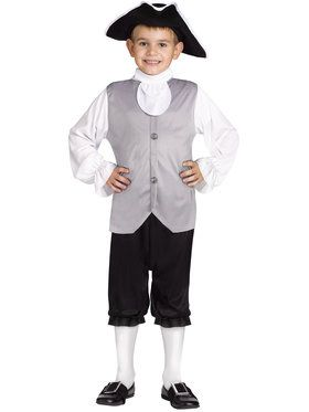 Boys Colonial Child Costume