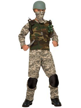 Combat Trooper Boys Costume