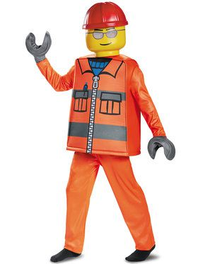 Construction Worker Deluxe Costume For Boys