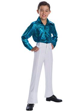 Childrens Crocodile Print Disco Shirt Costume