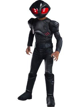 Kid's Aquaman Movie Deluxe Black Manta Costume