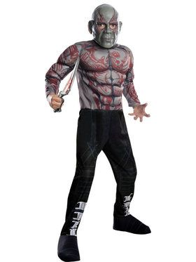 Kid's Boy's Deluxe Drax The Destroyer Costume