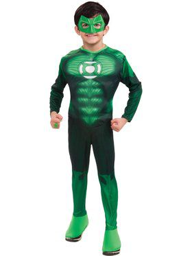 Boys Dlx Muscle Chest Green Lantern Hal Jordan Costume