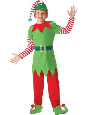 Boy's Elf Santa's Helper Costume