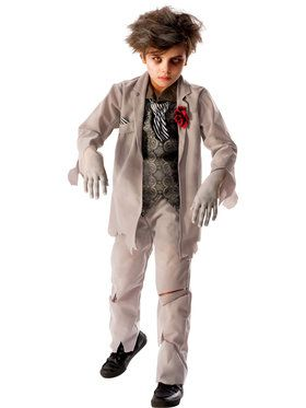 Ghost Groom Boys Costume