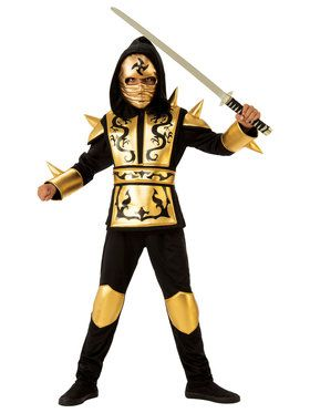Gold Boys Ninja Costume