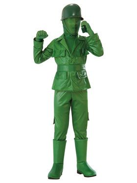 Green Army Boy Costume for Kids