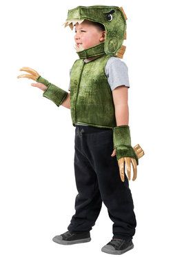 Green T-Rex Dino Vest Boys Costume