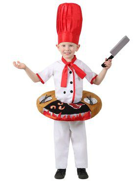 Boys Hibachi Chef Table Top Child Costume